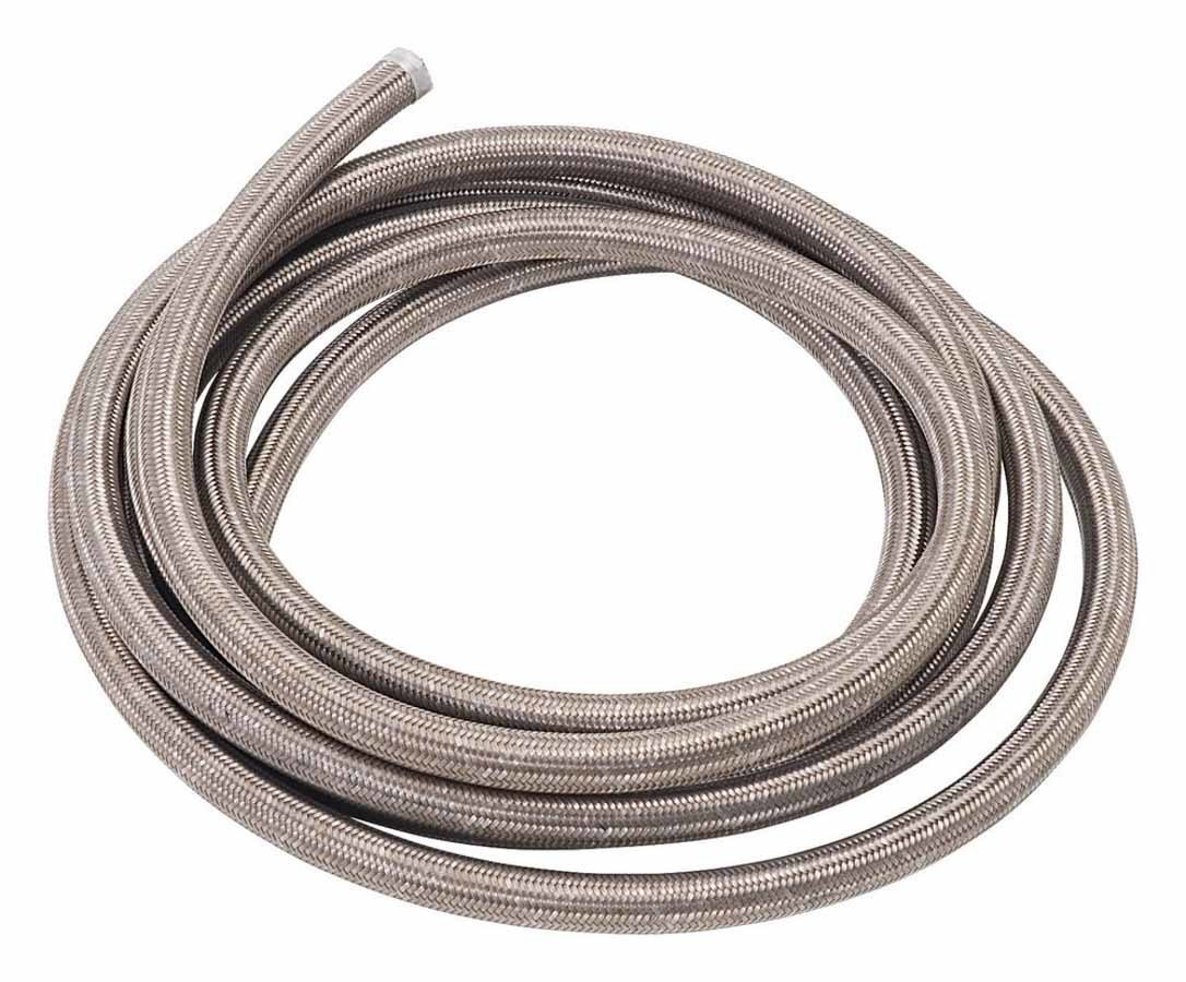 Russell 632130 Hose, Proflex, 8 AN, 15 ft, Braided Stainless, Rubber, Natural, Each