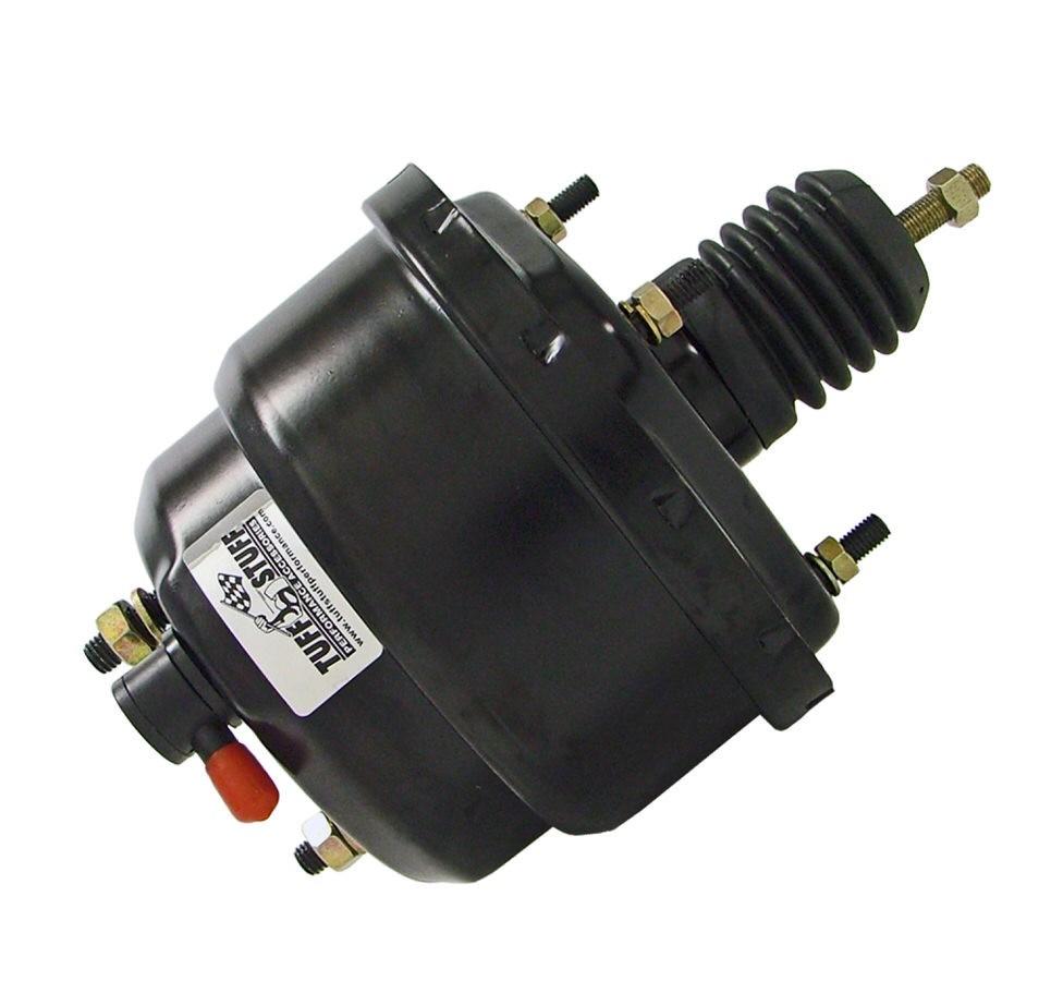 """Tuff Stuff Power Brake Booster 2222NC; 7/"""" Black Powdercoat Steel Dual Diaphragm"""