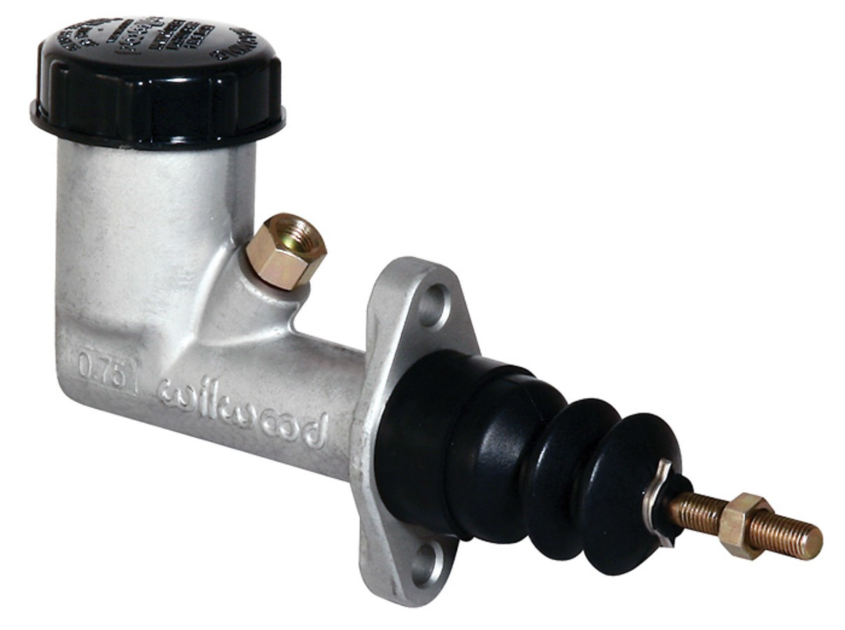 Wilwood 260-2636 Master Cylinder, Compact, 5/8 in Bore, 1.400 in Stroke, Integral Reservoir, Aluminum, Natural, Kit
