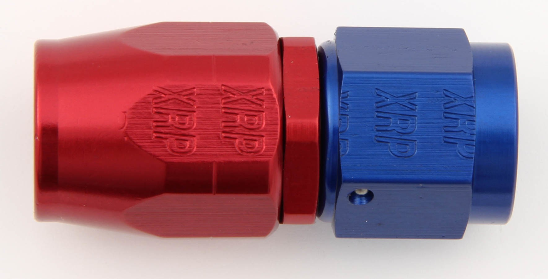 XRP 100006 Fitting, Hose End, Straight, 6 AN Hose to 6 AN Female, Aluminum, Blue / Red Anodized, Each