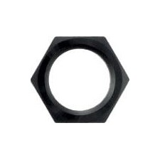 XRP 992406BB Bulkhead Fitting Nut, 6 AN, Aluminum, Black Anodized, Each